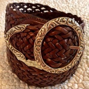 "2"" Wide Braided Leather Brighton Belt"